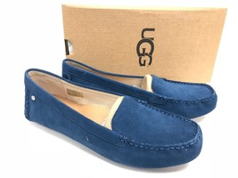 UGG Australia Milana Water Resistant Suede Loafers Dark Denim Blue 1096572 ~ - $69.99