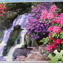 Milton Bradley Ez Erfassen Wasserfall Blumen 300 Teile Puzzle Komplett - $10.35