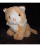 Commonwealth Kitty Cat Plush Stuffed Animal Light Brown Tan White Sittin... - $19.68