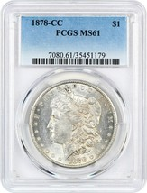 1878-CC $1 PCGS MS61 - Popular First-Year Carson City Morgan - $402.55