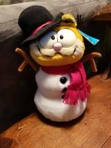 "Vintage 11"" Garfield Dakin Winter Snowman Christmas Holiday Plush Toy 19... - $20.31"