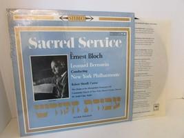 SACRED SERVICE ERNEST BLOCH AVODATH HAKODESH 6221 RECORD ALBUM LN  L114B - $7.79