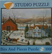 """Out of print Bits and Pieces Puzzle Snow Angels By Mary Ann Vessey 20""""x 27"""" - $15.19"""