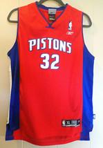 Richard Rip Hamilton 32 Detroit Pistons Red NBA Reebok Jersey XL Basketb... - $18.81