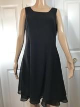Women's Karin Stevens 12p Black Holiday/party/event Dress Sleeveless - $12.19