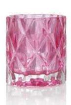 Yankee Candle Fractal Glass Votive Candle Holder - Pink - $14.99