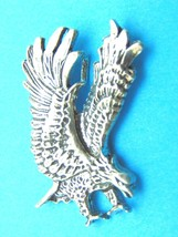 American Bald Eagle Sterling Silver Pendant Vintage Charm Made USA 11 Grams - $48.41
