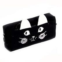 Cute White Cat Ear Portable Pencil Bag Black Big Capacity Pencil Bag - ₹1,179.67 INR