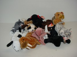 Lot of 10 Ty Beanie Baby Babies Plush 1993 to 2000 - $19.70