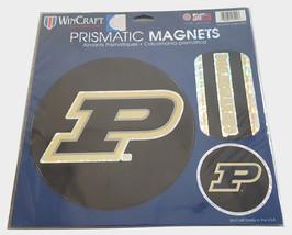 Purdue Boilermakers Magnets 11x11 Die Cut Prismatic Set of 3**Free Shipp... - $20.85