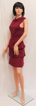 "ALEX MARIE Seville Red Plum Berry ""Rachel"" Sleeveless Sweater Dress LG NWT - $59.00"