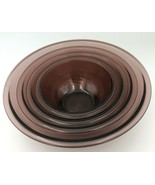 Vtg Pyrex Amethyst Cranberry Red Mixing Bowls Set 4 pc # 322 323 325 326... - $46.99