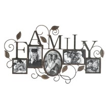 Family 5-Photo Wall Picture Frame Vines & Leaves - $31.60