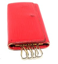 100% Auth Louis Vuitton red epi leather  4 Key Case key holder Spain CA - $78.21
