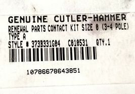 NEW CUTLER HAMMER 373B331G04 CONTACT KIT SIZE 0 3-4 POLE TYPE A (INCOMPLETE) image 3