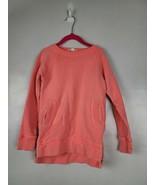 Crewcuts Girls Sweatshirt Size 4/5 Orange Long Sleeve Zipper Hem Pullove... - $26.88