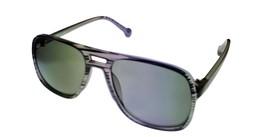 Converse Men Sunglass Grey Stripe Rec. Aviator Fashion Plastic, Smoke Lens H070 - $22.49