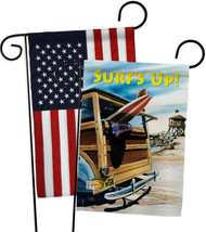 Beach Wagon - Impressions Decorative USA - Applique Garden Flags Pack - ... - $30.97