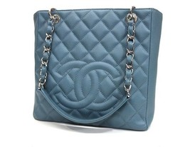 AUTHENTIC CHANEL Caviar Leather Matelasse Quilt... - $2,400.00