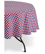 """New! Decor by Target Summer Wipeable Tablecloth Basket Weave Round 70"""" D... - $12.86"""