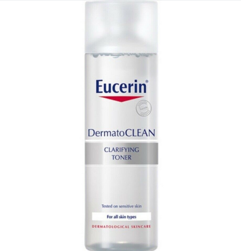 EUCERIN DermatoCLEAN Clarifying Facial Toner 200ML Removes Traces FAST SHIPPING - $38.90
