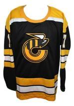 Blaine Stoughton #17 Cincinnati Stingers Retro Hockey Jersey New Black Any Size image 4