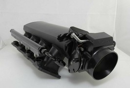 TALL FABRICATED BLACK GM LS1 LS2 INTAKE MANIFOLD W/ FUEL RAILS & THROTTLE BODY image 1