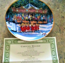 Collectible Carousel Plates w/ Coa The Franklin Mint Carousel Holiday - $19.80