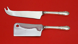 Modern Victorian by Lunt Sterling Silver Cheese Server Serving Set 2pc Custom - $110.30