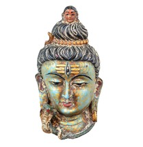 Antique Resin Lord Shiva mask Wall mask Wall Hanging Wall Sculpture Shiv... - $29.99