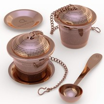 Apace Large Tea Infuser Set of 2 with Tea Scoop and Drip Trays – Multi C... - €20,46 EUR