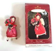 Hallmark Keepsake Christmas Ornament Rose Angel Dated 1999 Collectors Se... - $8.86