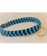 Paracord 550 Dog Collar Black and Blue Fish Tail Design Black Quick Rele... - $15.00