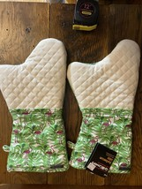 NWT Barbecue Oven Mitt BBQ Grill Glove Pot Holder Flamingo Set Of 2 Gril... - $12.95