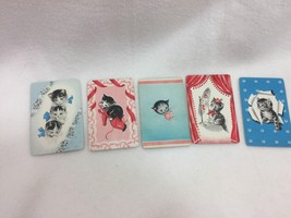 5 Single Swap Playing Cards Kittens Cats Kitties Kitty 245146 Vintage - $12.97