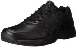 REEBOK MEN'S WORK N CUSHION 2.0 WALKING SHOE BLACK/BLACK 9.5 M US - $54.44