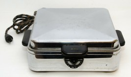 Vintage Mid-Century Sunbeam W-2 Chrome Waffle Iron Baker Made in USA - $54.45