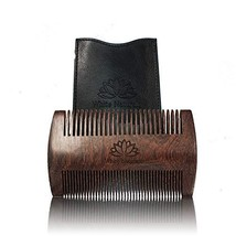 Limited Time Sale! Beard Comb for Men, Wooden Natural Sandalwood,Fine Dual Actio