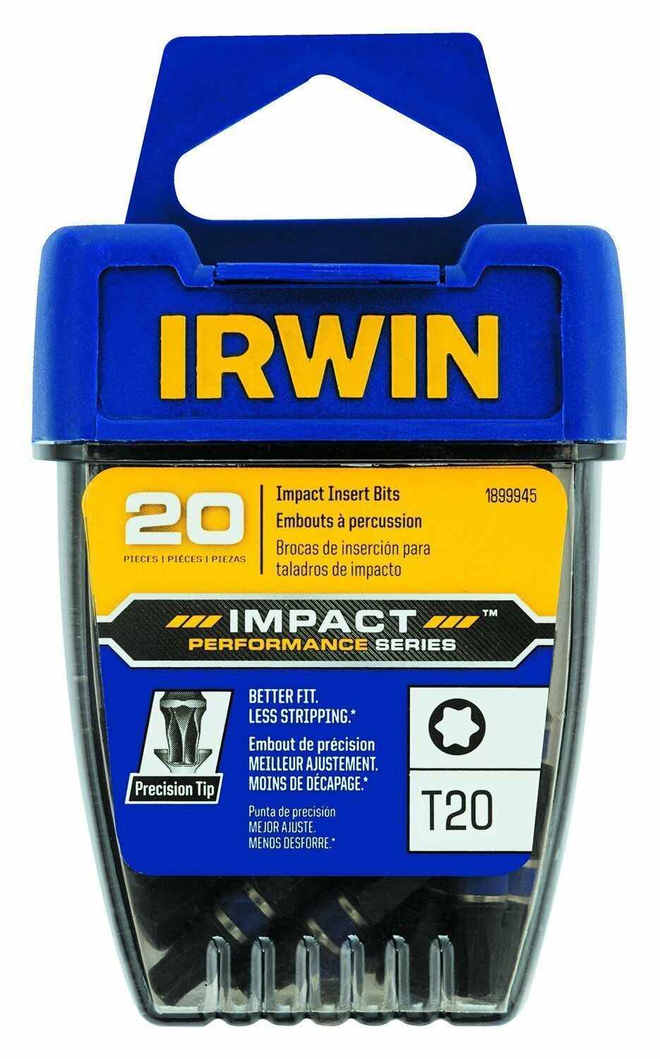 Primary image for Irwin 1899945 Impact Performance T20 Impact Screwdriver Insert Bits 20 Pack