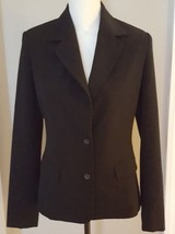 Womens Blazer Merona Black Lined Career Suit Jacket Size Small - $9.49