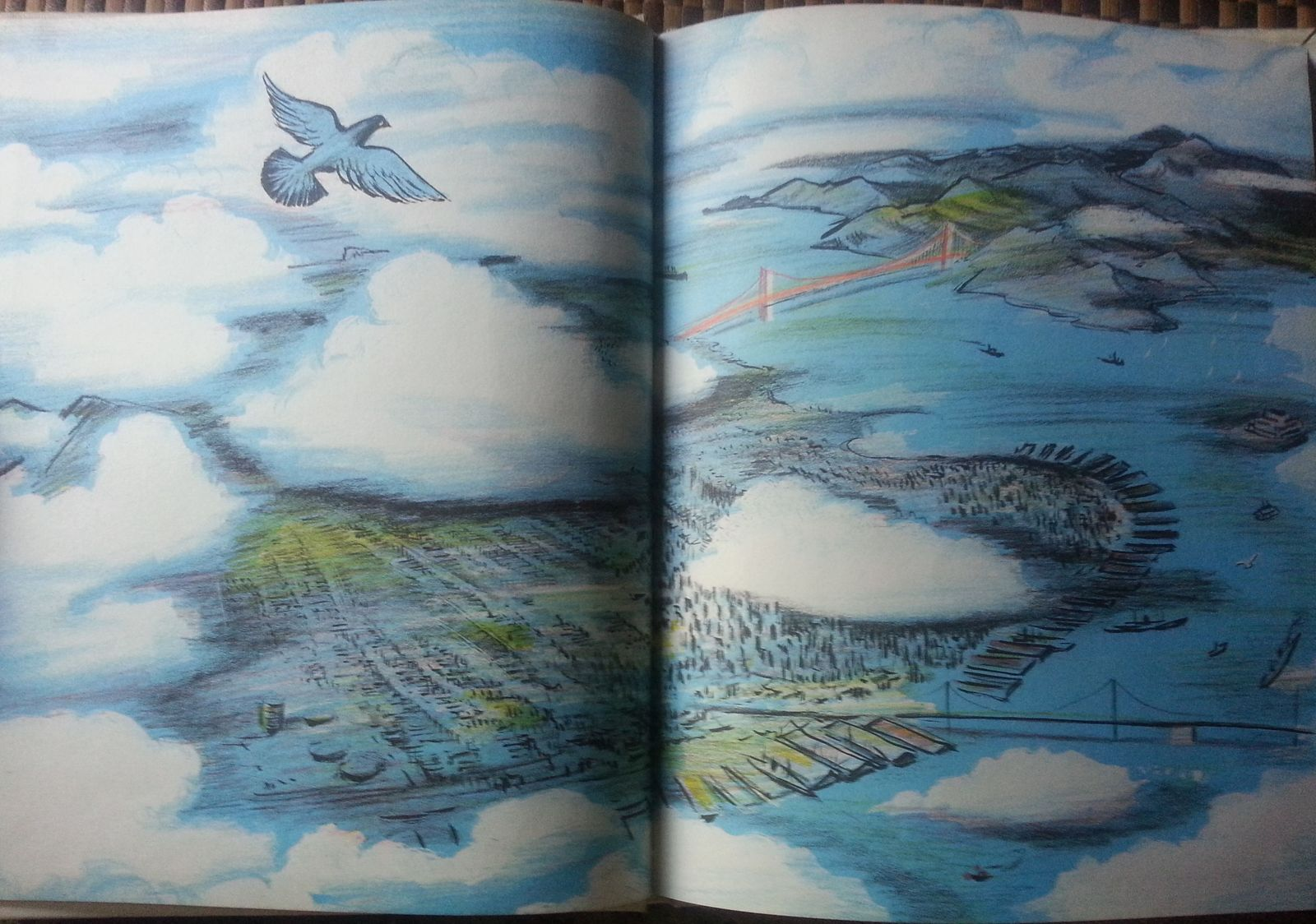 Fly High Fly Low by Don Freeman 1972 HB San Francisco Pigeon