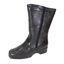 PEERAGE Maya Women Wide Width Leather Dual Side Zip Mid-Calf Boot - $107.95