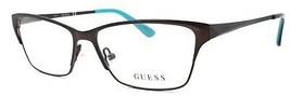 GUESS GU2605 049 Women's Eyeglasses Frames 53-14-135 Matte Dark Brown + ... - $59.30