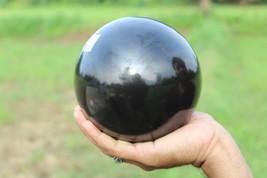 "5.5"" Inchs Black Agate Sphere Crystal Healing Spiritual Power Aura Spher... - $125.00"