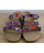 VIONIC Park Dwyn Snake Print Triple Strap Wedge Sandals Shoes Women's Si... - $29.99