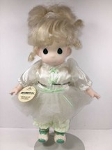 Precious Moments Doll Vintage Blonde Tonya with Stand 12 inch 1994 Plastic - $27.37