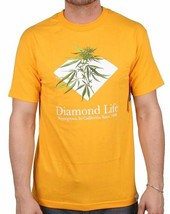 Diamond Supply Co Homegrown Gras Anlage Diamant Leben Gold Kurzarm