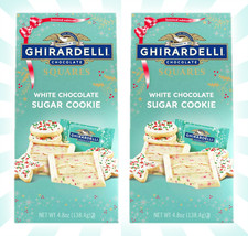2 Ghirardelli White Chocolate Sugar Cookie Limited Edition 4.8 Oz Exp 08/2021 - $21.16