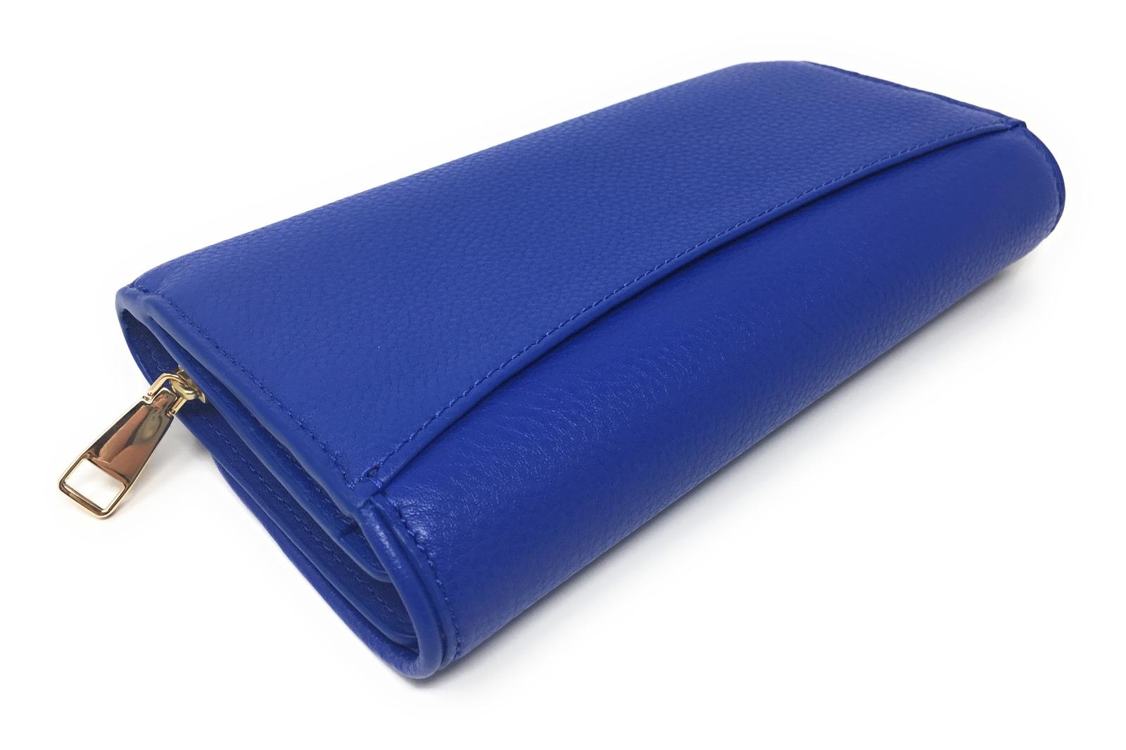6deecda325 Tory Burch Britten Duo Envelope Continental Wallet Bondi Blue Leather $225  MSRP!