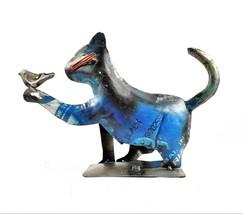 Recycled Metal Cat w/ Bird Sculpture - $27.70